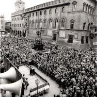 Manifestazione Regionale  per le Pensioni, 19.10.1984, Bologna, Da: Archivio fotografico Fiom Bologna.
