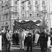 """Manifestazione contro il taglio della """"scala mobile"""", primi anni Ottanta, Bologna, Da: Casaralta."""