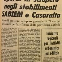L'Unità, Cronaca di Bologna, 25.01.1968.