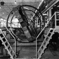Linea di costruzione per carrozze a due piani, anni '70 Da: Officine di Casaralta, s.l., s.d