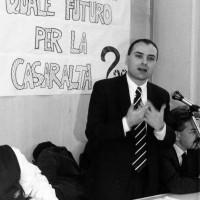 Intervento del sindaco Walter Vitali all'assemblea aperta alla cittadinanza sul futuro della Casaralta, 1996.