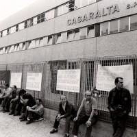 Vertenza per la conquista della piattaforma aziendale, 20.06.1984, Officine di Casaralta, Da: Archivio fotografico Fiom Bologna.