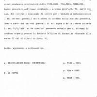 Accordo aziendale 10.07.1968, Da: Archivio contrattazione Fiom Bologna.