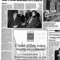 La Repubblica, Cronaca di Bologna, 20.11.2002.