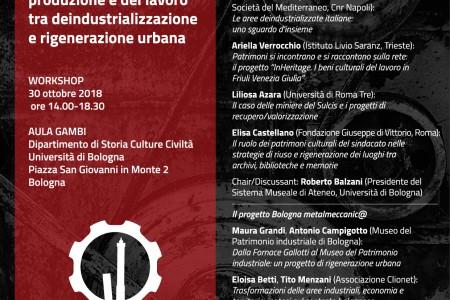 Workshop Ripensare i luoghi della produzione e del lavoro tra deindustrializzazione e rigeneralzione urbana